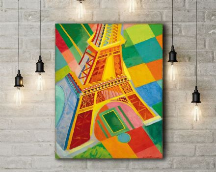 Delaunay: Eiffel Tower. Fine Art Canvas.